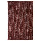 One-of-a-Kind Aukerman Hand-Braided Red/Black Indoor/Outdoor Area Rug Rug Size: Square 5'6