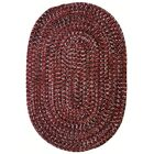 One-of-a-Kind Aukerman Hand-Braided Red/Black Indoor/Outdoor Area Rug Rug Size: Oval 2' x 8'
