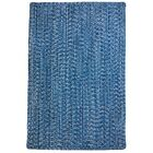 One-of-a-Kind Aukerman Hand-Braided Light Blue/Navy Indoor/Outdoor Area Rug Rug Size: Square 9'6