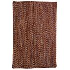 One-of-a-Kind Aukerman Hand-Braided Burnt Orange Indoor/Outdoor Area Rug Rug Size: Square 7'6