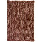 One-of-a-Kind Aukerman Hand-Braided Red/Gold Indoor/Outdoor Area Rug Rug Size: Square 3'