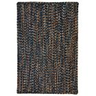 One-of-a-Kind Aukerman Hand-Braided Navy/Burnt Orange Indoor/Outdoor Area Rug Rug Size: Square 9'6