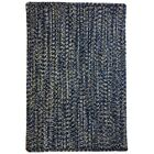 One-of-a-Kind Aukerman Hand-Braided Navy/Gold Indoor/Outdoor Area Rug Rug Size: Square 9'6