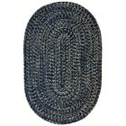 One-of-a-Kind Aukerman Hand-Braided Navy/Gold Indoor/Outdoor Area Rug Rug Size: Oval 3' x 5'