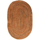 One-of-a-Kind Aukerman Hand-Braided Orange/Gray Indoor/Outdoor Area Rug Rug Size: Oval 7' x 9'