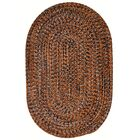 One-of-a-Kind Aukerman Hand-Braided Orange/Navy Indoor/Outdoor Area Rug Rug Size: Oval 2' x 8'