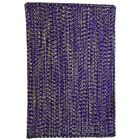One-of-a-Kind Aukerman Hand-Braided Purple/Gold Indoor/Outdoor Area Rug Rug Size: Rectangle 11'4