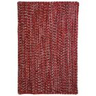 One-of-a-Kind Aukerman Hand-Braided Red Indoor/Outdoor Area Rug Rug Size: Rectangle 2'3
