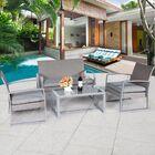 Comer 4 Piece Rattan Sofa Set with Cushions