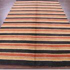 Seidman Indian Oriental Hand-Knotted Wool Orange/Beige Area Rug