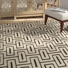 Syed Hand Knotted Wool/Cotton Ivory Area Rug Rug Size: Rectangle 6' x 9'