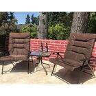 Surfwood 3 Piece 2 Person Seating Group with Cushions Cushion Color: Dark Brown