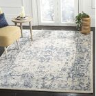Jase Ivory/Navy Area Rug Rug Size: Rectangle 5'3