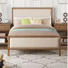 Doyal Upholstered Panel Bed Color: Brown, Size: Full/Double