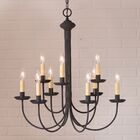 Hurst 9-Light Candle Style Chandelier Finish: Ecru Sleeves