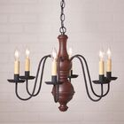 Hurt 6-Light Candle Style Chandelier Finish: Red, Size: 20.5