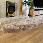 Lovett Sheepskin Light Brown Area Rug Size: Novelty 1'11