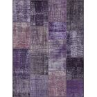 Jacquline Antique Patchwork Hand-Knotted Purple Area Rug Rug Size: Rectangle 5'3