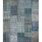 Gerri Antique Patchwork Hand-Knotted Blue Area Rug Rug Size: Rectangle 8'2