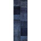 Jacque Antique Patchwork Hand-Knotted Blue Area Rug Rug Size: Runner 2'7