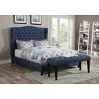 Mendez Upholstered Platform Bed Size: Eastern King, Color: Blue