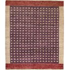 Gabbeh One-of-a-Kind Hand-Knotted Wool Rust Area Rug