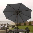 Nero 9' Market Umbrella Frame Color: Gray