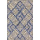 Trinity Handmade Dhurrie Wool Blue/Yellow Area Rug Rug Size: Rectangle 2' x 3'