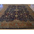 One-of-a-Kind Bellino Sarouk Fereghan New Zealand Handwoven Blue Wool Area Rug