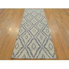 One-of-a-Kind Belleair Geometric Reversible Handmade Kilim Grey Wool Area Rug
