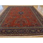 One-of-a-Kind Bellmore Rust Sarouk Fereghan New Zealand Handwoven Red Wool Area Rug