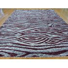 One-of-a-Kind Beatrix Cropped Hand-Knotted Grey Silk Area Rug