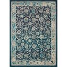 Ernst Navy Blue/Black Area Rug Rug Size: Rectangle 10' x 14'