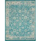 Ernst Turquoise/Gray Area Rug Rug Size: Rectangle 5'3