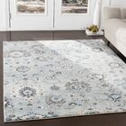Laguna Distressed Floral Gray/Teal Area Rug Rug Size: Rectangle 9' x 12'3