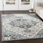 Alley Gray/Teal Area Rug Rug Size: Rectangle9' x 12'3