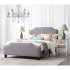 Gisselle Upholstered Platform Bed Color: Platinum/Silver, Size: Queen