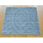 One-of-a-Kind Belvedere Hand-Knotted Grey Wool/Silk Area Rug