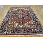 One-of-a-Kind Beare Rust Serapi Hand-Knotted Red Wool Area Rug
