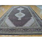 One-of-a-Kind Beason Handwoven Black Wool/Silk Area Rug