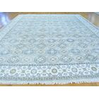 One-of-a-Kind Beauchemin Art Design Hand-Knotted Grey Silk Area Rug