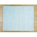 One-of-a-Kind Bean Ikat Dense Weave Handwoven Ivory Wool Area Rug