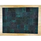 One-of-a-Kind Bonnell Afghan Turkoman Patchwork Overdyed Handwoven Wool Area Rug
