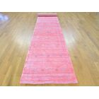 One-of-a-Kind Becker Handwoven Pink Wool/Silk Area Rug