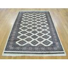 One-of-a-Kind Bill Bokara Jaldar Design Hand-Knotted Ivory Wool Area Rug
