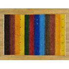 One-of-a-Kind Becker Handwoven Blue/Yellow/Brown Wool Area Rug