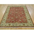 One-of-a-Kind Booker Tabriz Revival Hand-Knotted Red Wool Area Rug