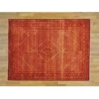 One-of-a-Kind Beaton Hand-Knotted Red Wool/Silk Area Rug