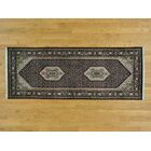 One-of-a-Kind Beaton Bidjar Hand-Knotted Black Wool/Silk Area Rug