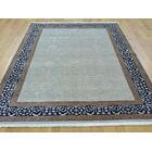 One-of-a-Kind Benally Hand-Knotted Gray Wool/Silk Area Rug